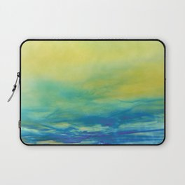 YELLOW & BLUE TOUCHING #1 #abstract #art #society6 Laptop Sleeve