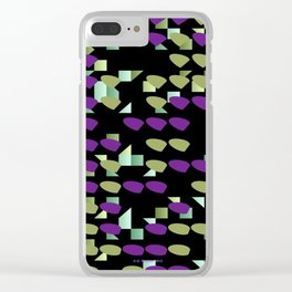 Magenta Lime Floaters Clear iPhone Case
