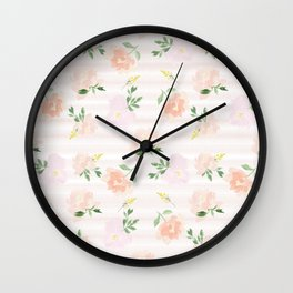 Gigi Collection - Peach Peony Wall Clock