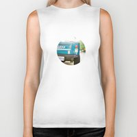 jeep Biker Tanks featuring Jeep Scrambler Summer by Leslee Mitchell