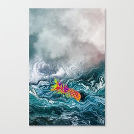 Stay Wavy Pineapple Canvas Print
