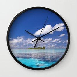 Cloud Island - Tropical Horizon Series Wall Clock