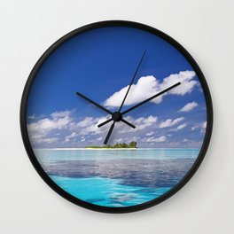 Cloud Island - Tropical Horizon Series Wall Clock