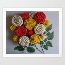 Bouquet of Cupcakes Art Print
