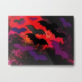 Bats In Flight Metal Print