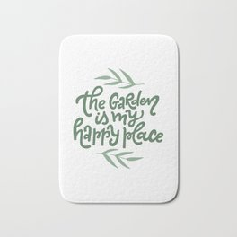 The Garden Is My Happy Place Bath Mat