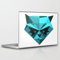 racoon Laptop & iPad Skins featuring Rocky Racoon by rybbrybson