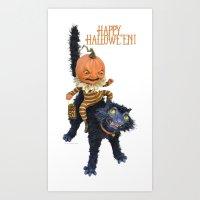 Rucus Studio Halloween Mischief Art Print