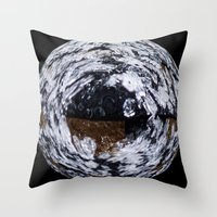 ice Throw Pillows featuring Ice by Rose Etiennette