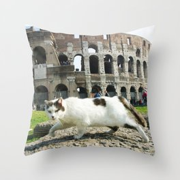 The Cat of the Colosseum Throw Pillow