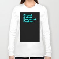 dungeons and dragons Long Sleeve T-shirts featuring Dungeons & Dragons & Swag by Tuff Industries