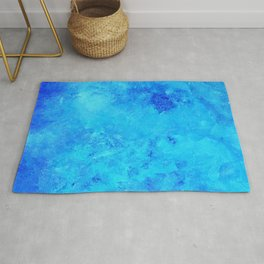 Blue abstract two Rug