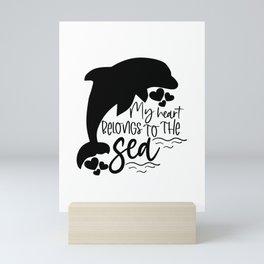 My heart belongs to the sea Mini Art Print