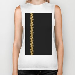 Gold Halftone Line on Black Biker Tank