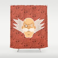 megaman Shower Curtains featuring Dr Willy - Megaman by Kuki