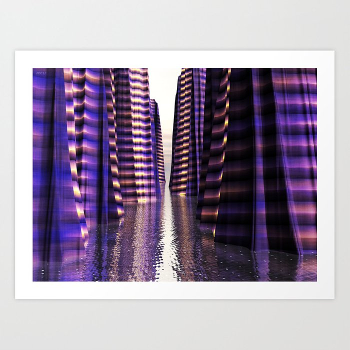 Glowing Lights of An Electric Canyon Art Print