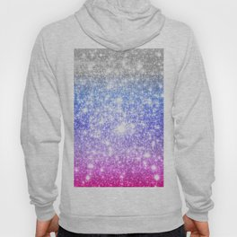 Galaxy Sparkle Stars Periwinkle Pink Hoody