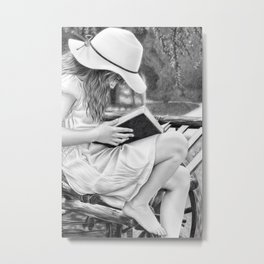 Summer Reading Metal Print
