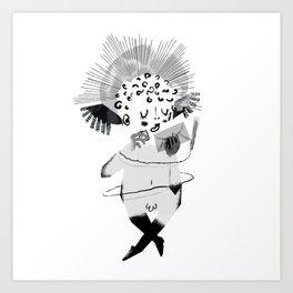 Mailing Angel Art Print