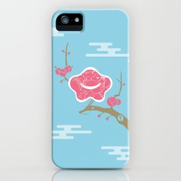 Plum and Dragon iPhone Case