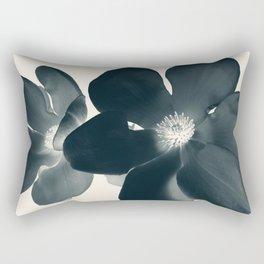 Cyan Magnolia #1 Rectangular Pillow
