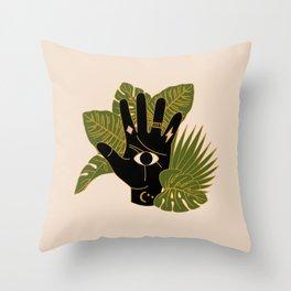 Mystic Hand Throw Pillow