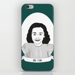 Anne Frank Illustrated Portrait iPhone Skin