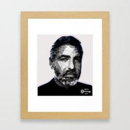 Jawge Clooney B&W Framed Art Print