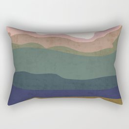Big Sun Landscape Rectangular Pillow
