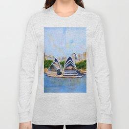 Colorful Sydney Harbor Long Sleeve T-shirt