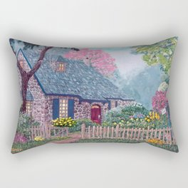 Essex House Cottage by Ave Hurley Rectangular Pillow