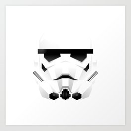 """WHITE TROOPER"" Art Print"