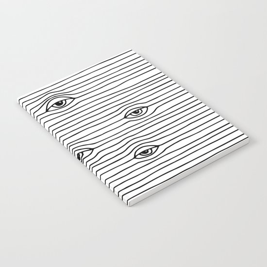 PEEPING TOM [BLK & WHT] Notebook