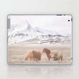 WILD AND FREE 3 - HORSES OF ICELAND Laptop & iPad Skin