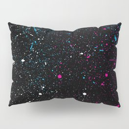 Universe Paint Splatter Pillow Sham