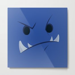Blue Monster Metal Print