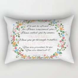 Isaiah 43: 1-4 Rectangular Pillow