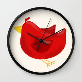 Red Bird of Happiness Wall Clock