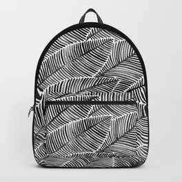 Tropical Palm Leaves – Black Palette Backpack