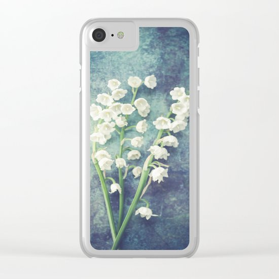 Lily Of The Valley II Clear iPhone Case