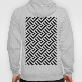 Optical pattern 84 black and white Hoody