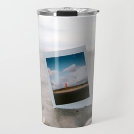 Picture in the sand - Beach Collection Texel   The Netherlands - Travel photography Art Print Travel Mug