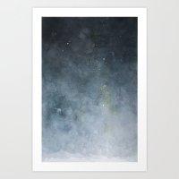 watercolour universe Art Print