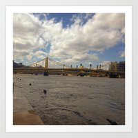 pittsburgh Art Prints featuring Pittsburgh by Jaime Viens