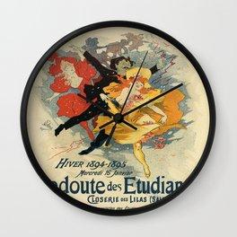 Vintage poster - Redoute des Etudiants Wall Clock