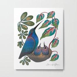 Mama Bird Metal Print