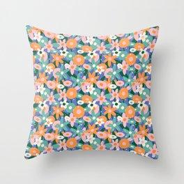 Spring Lilac Pattern Throw Pillow