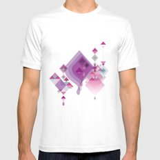 Abstract illustrations Mens Fitted Tee White MEDIUM