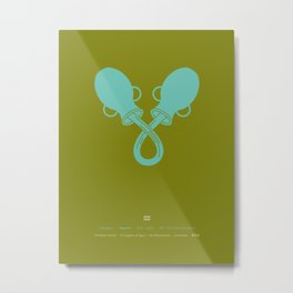 Aquarius Zodiac / Water-Carrier Star Sign Poster Metal Print