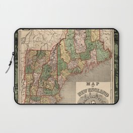 Map of New England 1847 Laptop Sleeve
